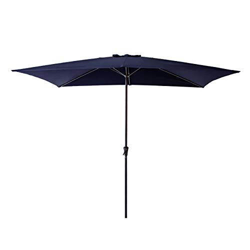 (C-Hopetree Rectangle Patio Umbrella 6'6