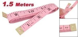 "1.5M 60"" Soft Plastic Ruler Tailor Cloth Body Measure Measuring Flat Tape PINK"