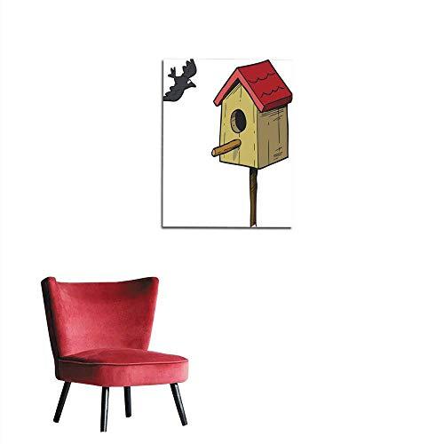Birdhouses Wallpaper Border - longbuyer Art Decor Decals Stickers Birdhouse and Bird Mural 24