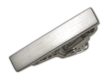 The Tie Bar C778 Brushed Straight Silver 1 Inch Tie Bar