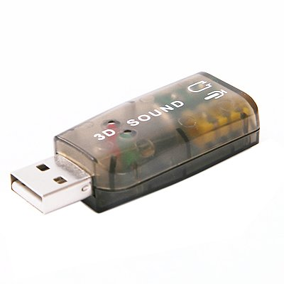 HDE External USB Sound Card Adapter 5.1 for PC Desktop Noteb