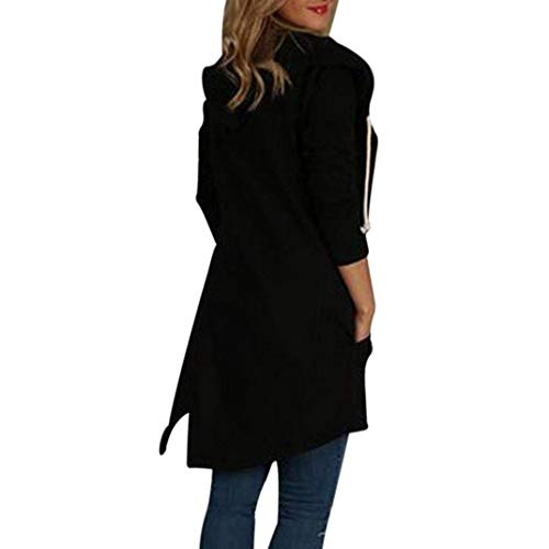 Con Giaccone Solidi 88 Giacca Autunno Mantello Fashion Forcella Libero Cappuccio A Colori Especial Aperto Schwarz Primaverile Tempo Estilo Asimmetrica Eleganti Donna Baggy Bobo Outerwear BwqdRB0