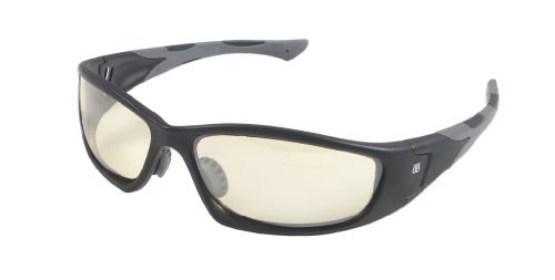 BTB-740 Sport Optic with Matte Black Frame and Yellow Flash Mirror - Sunglasses Btb
