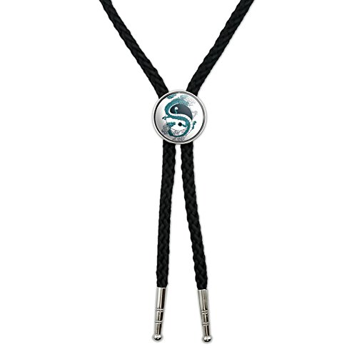 Yin and Yang Chinese Dragon Western Southwest Cowboy Necktie Bow Bolo Tie ()