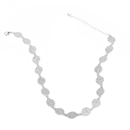Women Necklace Odeer 2017 Fashion Women Jewelry Charm Star Chain Chunky Choker Necklace (Silver) ()
