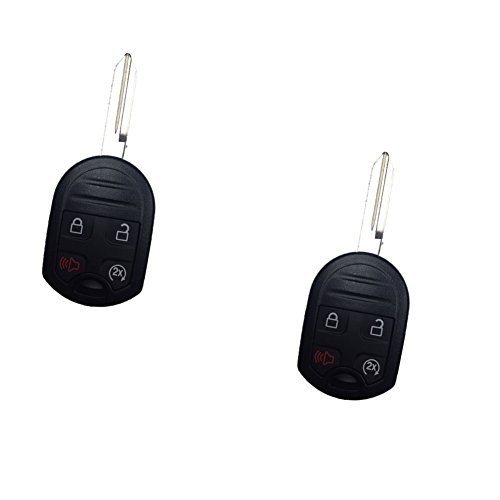 WFMJ 2Pcs Keyless Entry 4 Buttons Smart KEY Case Shell Fo...