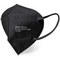 Mascarilla FFP2 Negra,10 unidades, con Ajustador Craneal, Ultraproteccion Certificado Oficial CE 2834