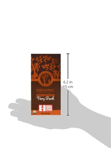 Equal Exchange Organic Very Dark Chocolate, 2.8 Ounce, Pack of 6 7 Contains 6 packs of 2.8 oz Very Dark Chocolate TASTE: Rich Dark Chocolate Bar Very Dark 71% Cacao.  Vegan, Soy & Gluten Free Crafted Soy & Gluten Free