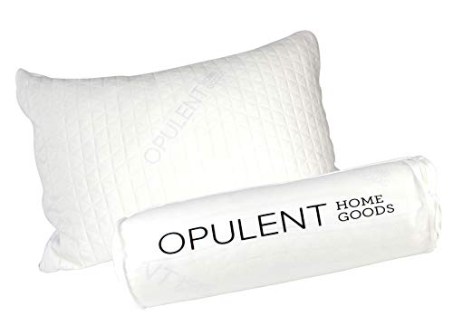 Opulent Home Goods Sleeping Pillow | Original Adjustable Shredded Memory Foam Pillow | Customize Your Own Pillows | Machine-Washable(Removable), Hypoallergenic Pillows For Sleeping | 3 Sizes Available