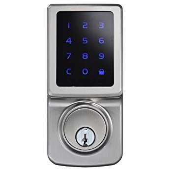 Kenaurd Grade 2 Electronic Touchscreen Deadbolt silver finish with schlage keyway Kenaurd