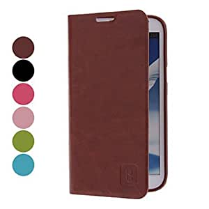 MOVSOINA PU Leather Case for Samsung Galaxy Note 2 N7100 (Assorted Colors) , Pink