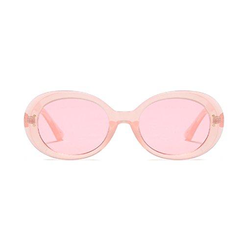 Eyewear Oversized Unisex Retro Mode Frame Oval Lens Yefree Sunglasses Rosa Round Vintage dgYqxvwawn