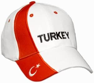 WM Caps:Turchia Alsino Cappellino Regolabile per Tifosi di Calcio Colori Diversi delle Nazionali di Calcio Ultra mondiali Europei con Scritta Paese Base cap Coppa Bandiera Paese