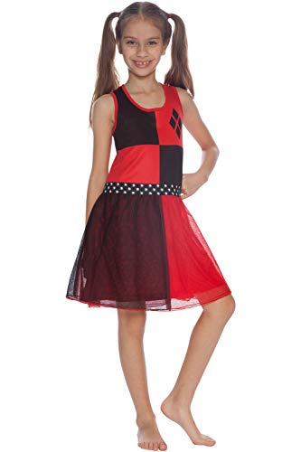 DC Comics Girls' Big Harley Quinn 'Costume' Pajama