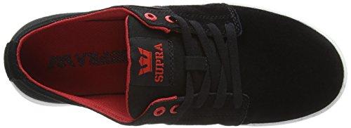 Dark Stacks Black Mens Shoe II Red White Skate Grey Supra Red White qS4a7wt