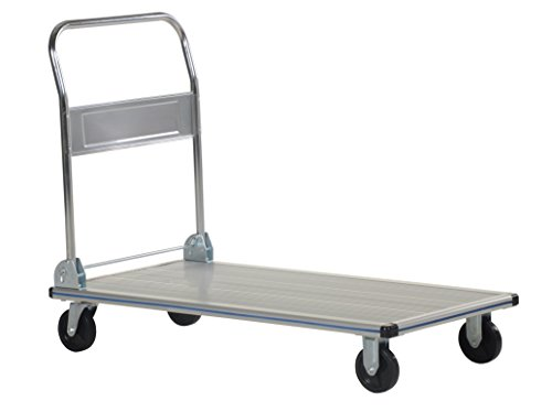 Trucks Aluminum Platform - Vestil AFT-48-NM Aluminum Folding Platform Truck with Single Handle and 5