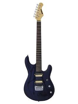 Marlin LK-R-DrkBlue - Guitarra eléctrica (tilo americano), color azul: Amazon.es: Instrumentos musicales