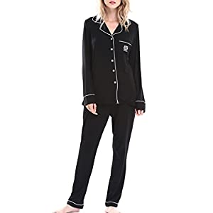 NORA TWIPS Womens Pajamas Long Sleeve Sleepwear Soft PJ Set Pocket XS-XL