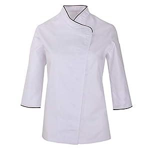 MISEMIYA Chaquetas Cocinero Uniformes Chef Jacket Mujer 2