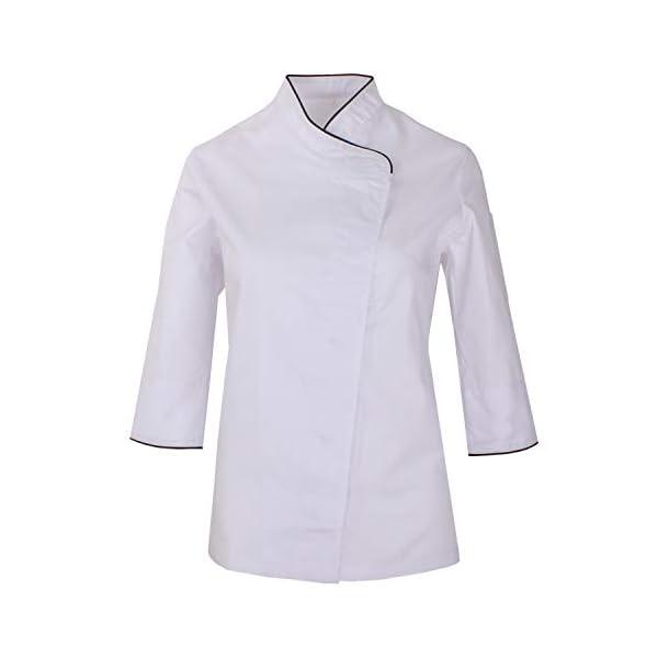 MISEMIYA Chaquetas Cocinero Uniformes Chef Jacket Mujer 1