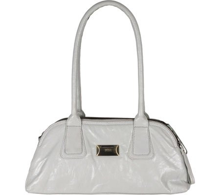 Latico Women's Louise Coinkeeper Shoulder Bag 7614,Metallic White/White Leather, by Latico