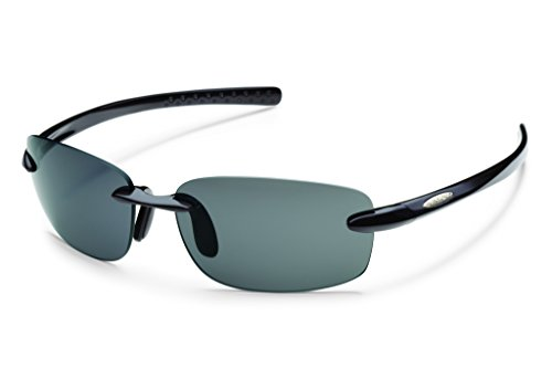 Suncloud Momentum Polarized Sunglass (Black Frame/Gray Polar - Polarized Rei Sunglasses