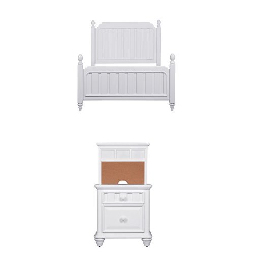 Pulaski Summertime Youth Full Bed with Two Nightstands