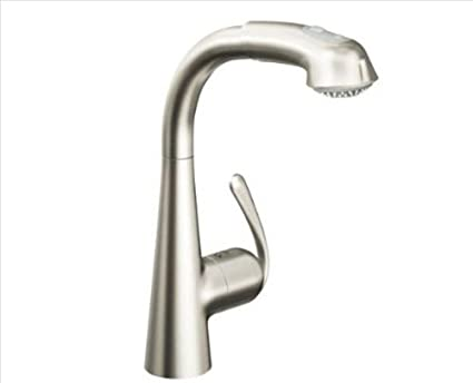 grohe ladylux 33893dce one handle pullout kitchen faucet touch on rh amazon com grohe ladylux kitchen faucet cartridge grohe ladylux kitchen faucet installation instructions