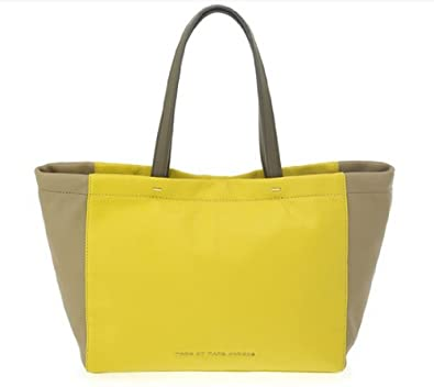 9003d3652cbd Amazon.com  Marc by Marc Jacobs Whats The T Tote Tote Canary Yellow Multi  One Size  Clothing