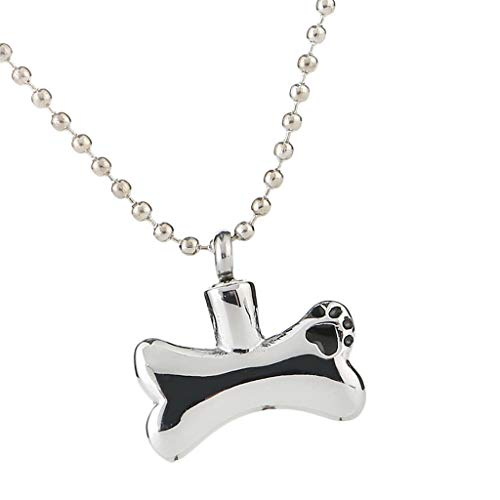 Dog Bone Urn Pendant Necklace Ashes Keepsake Memorial for Pet Dog Ashes 75cm Necklace Jewelry Crafting Key Chain Bracelet Pendants Accessories Best