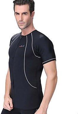 Hombres 1,5 mm Camisa de neopreno Transpirable Secado rápido Diseño Anatómico Neopreno Traje de buceo Mangas cortas Tops-Natación Buceo , gray , l: Amazon.es: Deportes y aire libre