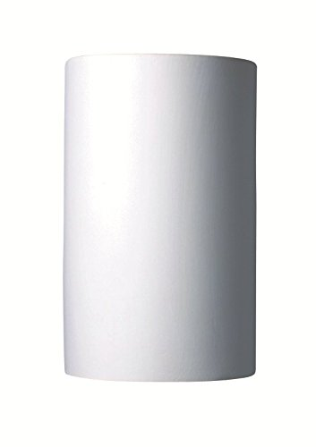 Justice Design Group Lighting CER-1265-BIS Justice Design Group-Ambiance Collection-Large Cylinder Wall Sconce-Open Top & Bottom-Bisque Finish, (Unfinished -