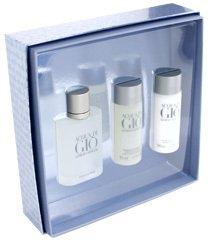 Acqua Di Gio by Giorgio Armani: 3 Pc Gift Set - 1.7oz EDT Spray|1.7oz Shower Gel|1.7oz After Shave Balm for Men