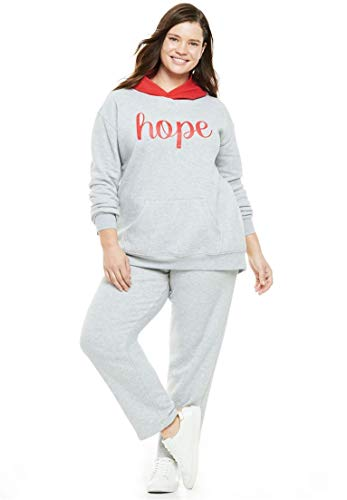 Woman Within Plus Size 2-Piece Colorblocked Hoodie Set