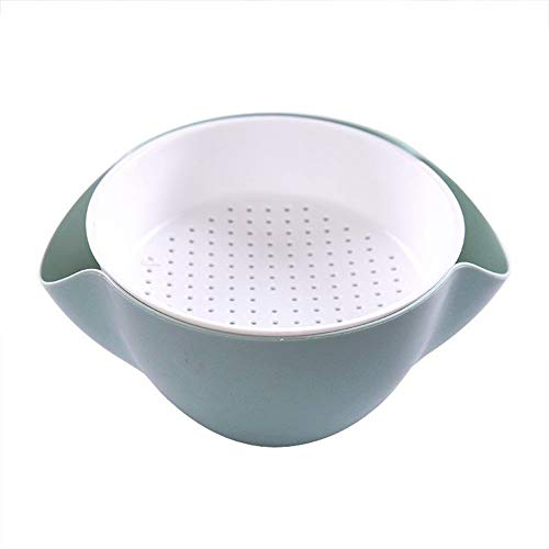 - YYi-kuG Creative Double Layer Melon Seed Nut Bowl Table Candy Snack Dry Fruit Holder Storage Box Plate Dish Tray (Color : Blue, Size : 22.5X21X9CM)