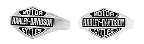 Harley-Davidson Mens Sculpted Classic Bar & Shield Ring, ...