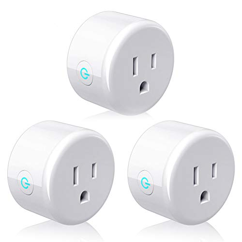 Smart Plug, Lightstory Mini Wi-Fi Socket Outlet Compatible with Alexa Echo/dot Compatible with Google Home Assistant IFTTT, Remote Control Your Devices from Anywhere, No Hub Required, 3 Pack