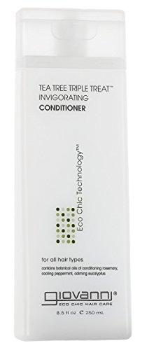 GIOVANNI Tea Tree Triple Treat Invigorating Conditioner, 8.5