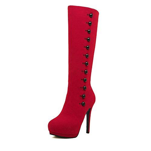 Botas De La Black E Martin Impermeables Mujer Con Otono Alta Cabeza - Adornos-para-botas