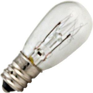 6S6/230V Bulb 6W 230V S6 Incandescent Candelabra Screw Base ()