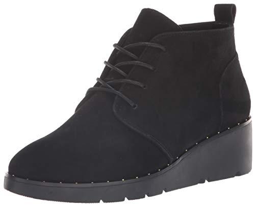 STEVEN by Steve Madden Women's NC-BART Sneaker, Black Suede, 8.5 M US
