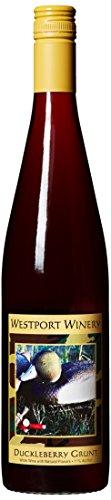 "Westport Winery ""Duckleberry Grunt"" Gewürztraminer & Blueberry/Huckleberry wine blend (Benefits the Grays Harbor Ducks Unlimited) 750 mL Wine"