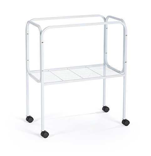 "447 bird cage stand for 26"" x 14"" base flight cages, white"