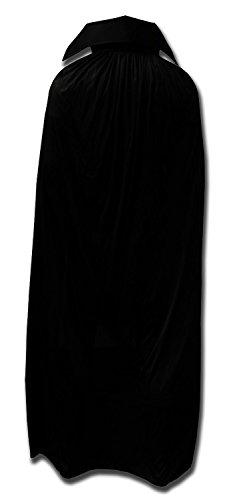 WRESTLING MASKS UK Men's - Mexican Lucha Libre Official Fancy Dress Up Cape One Size Black ()