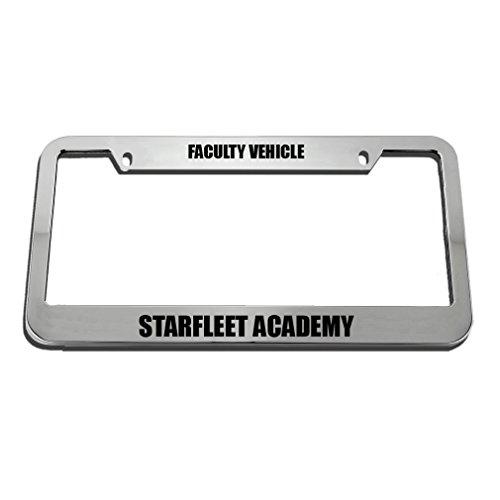 Faculty Vehicle Starfleet Academy License Plate Frame Tag Holder Elvira Jasper