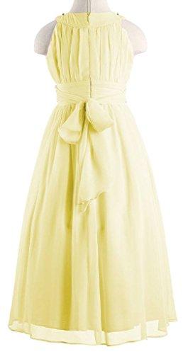 Happy Rose Chiffon Long Junior Bridesmaid Dress Yellow 16 by Happy Rose (Image #4)