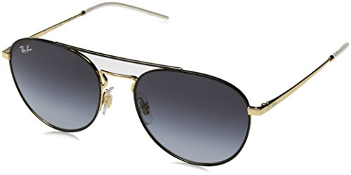 Ray-Ban Women's Metal Woman Square Sunglasses, Gold Top on Black, 55 - Ray Female Ban Sunglasses
