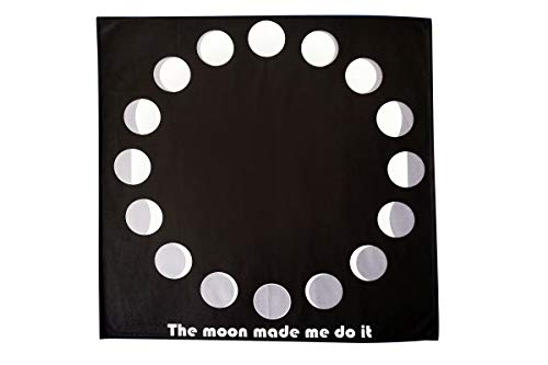 Moon Phases Altar Tarot Cloth (Large, 24 inches x 24 inches) (Black) -