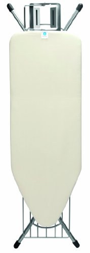 Brabantia Steam Rest Ironing Board with Linen Rack, C - Wide Ecru