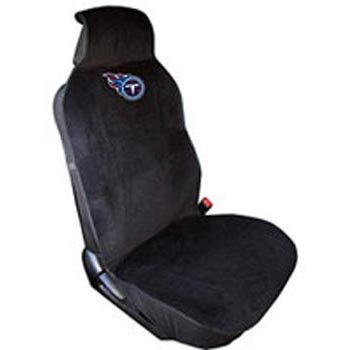 Fremont Die NFL Tennessee Titans Seat Cover, Black, One Size